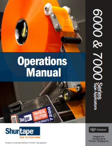 SP 7000 Operations Manual Cover