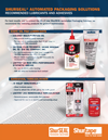 Recommended Lubricants and Adhesives